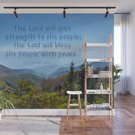 The Lord will give peace Wall Mural
