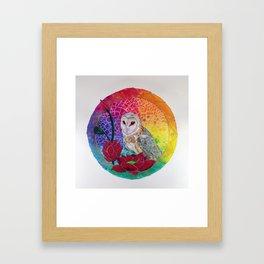 Lakshmi's Vahana ( Bird Whisperer Project Owl ) Framed Art Print
