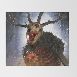 Wendigo Throw Blanket