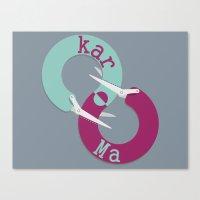 karma Canvas Prints featuring karma  by Daniac Design