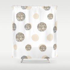 POIS CHIC WHITE Shower Curtain