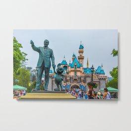 Walt & Mickey Metal Print