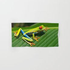 Green Tree Frog Red-Eyed Hand & Bath Towel