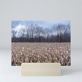 Field of Corn left Behind Mini Art Print