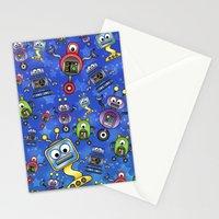 Little Robots  Stationery Cards