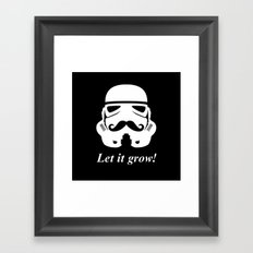 Bearded trooper Framed Art Print
