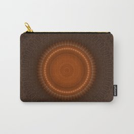 Tribal Copper Rust Mandala Design Carry-All Pouch