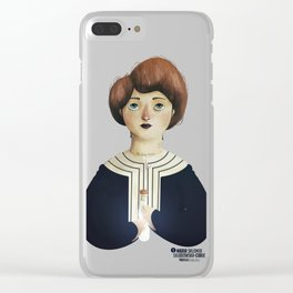 Marie Curie Clear iPhone Case