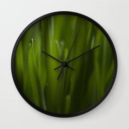 Cat grass Wall Clock