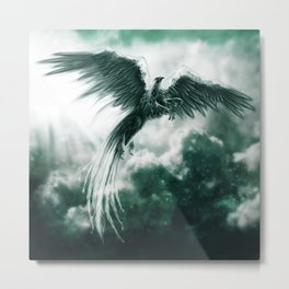 Jade Griffin Metal Print