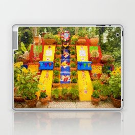 Frida's Garden, Frida Kahlo Landscape Painting by Jeanpaul Ferro Laptop & iPad Skin