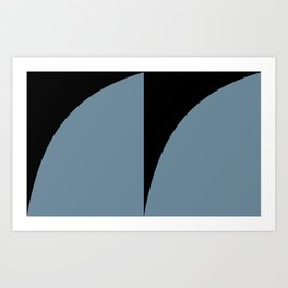 Bold Geometric Shapes - Blue Art Print