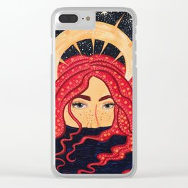floating goddess Clear iPhone Case