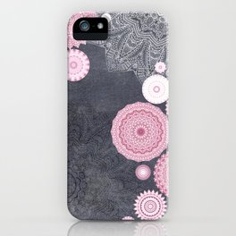 FESTIVAL FLOW - PINK GREY iPhone Case