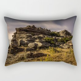 Moonlight Shadow Rectangular Pillow