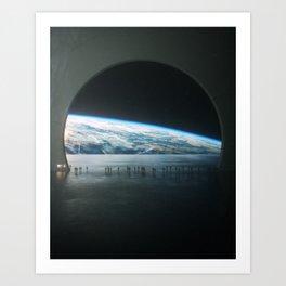 Observation Deck Art Print