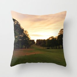 Down The Fairway Throw Pillow