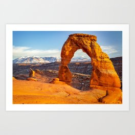 DELICATE ARCH SUNSET ARCHES NATIONAL PARK MOAB UTAH Art Print
