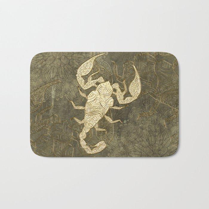 Beautiful scorpion mandala Bath Mat
