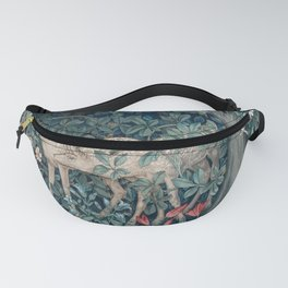 William Morris Forest Deer Greenery Tapestry Fanny Pack