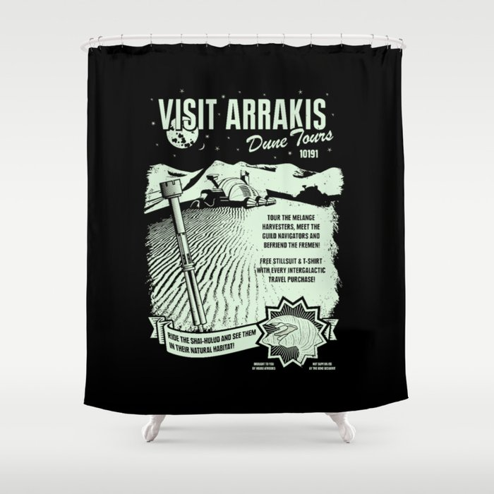 visit arrakis Shower Curtain