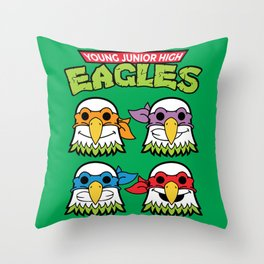 Old School Eagles Throw Pillow