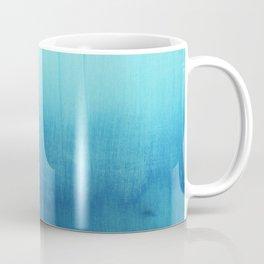 Modern teal sky blue paint watercolor brushstrokes pattern Coffee Mug