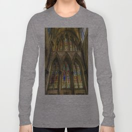 Rochester Cathedral Stained Glass Windows Art Long Sleeve T-shirt