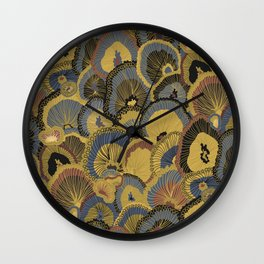 Tree Huggers in Gold Wall Clock