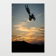 Kugimura Kota One Handing at Sun Set, FMX Japan Canvas Print