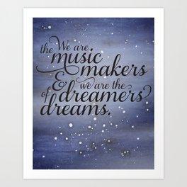 Dreams & Music Art Print