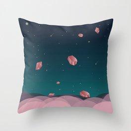 Luna Diamonds Throw Pillow