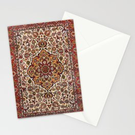 Persia Tabriz Old Century Authentic Colorful Red Mustard Yelllow Vintage Patterns Stationery Cards