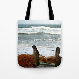 The Sea at the Stairs Tote Bag