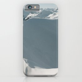 Wall of Snow | Landscape Photography Alps | Print Art iPhone Case