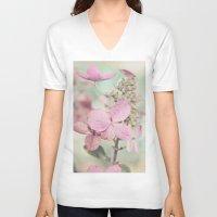 blush V-neck T-shirts featuring Blush  by Laura Ruth