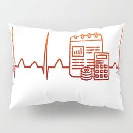 Financial Planner Heartbeat Pillow Sham
