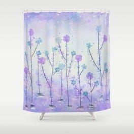 Purple Field of Flowers Shower Curtain