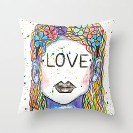 """Words Within: """"Love"""" Throw Pillow"""