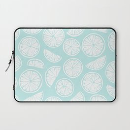 Citrus Wheels - Blue and White Laptop Sleeve