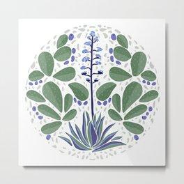 Athanatos green and purple Metal Print