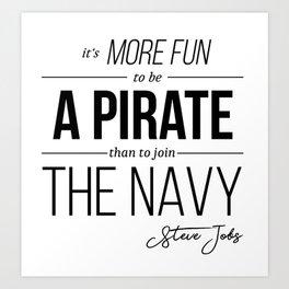 Steve Jobs Motivational Quote Art Print