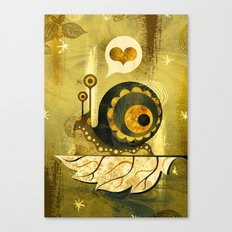 The Enamored Snail Canvas Print