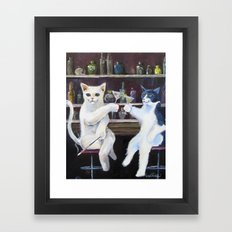 Social Cats  Framed Art Print
