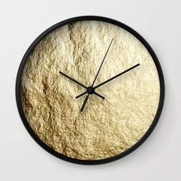 Crinkled Gold Wall Clock