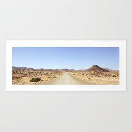 Namibian Landscape Art Print