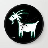 goat Wall Clocks featuring Goat by ANNA MAKAĆ -  folk designs
