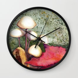 Adirondack Mushrooms Wall Clock