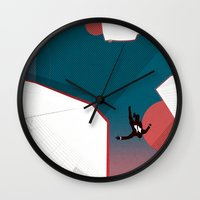 mad men Wall Clocks featuring Mad Men by PIXERS