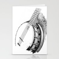 banjo Stationery Cards featuring Banjo by Ashley Silvernell Quick